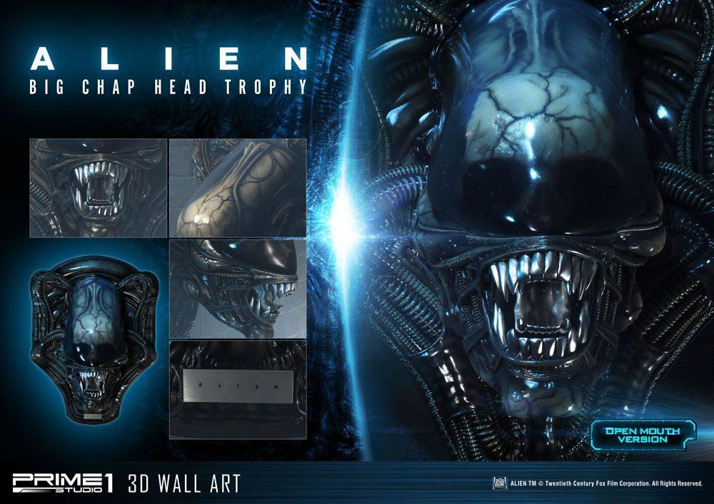 Alien plaque murale 3d warrior head trophy open mouth version 58 cm 10