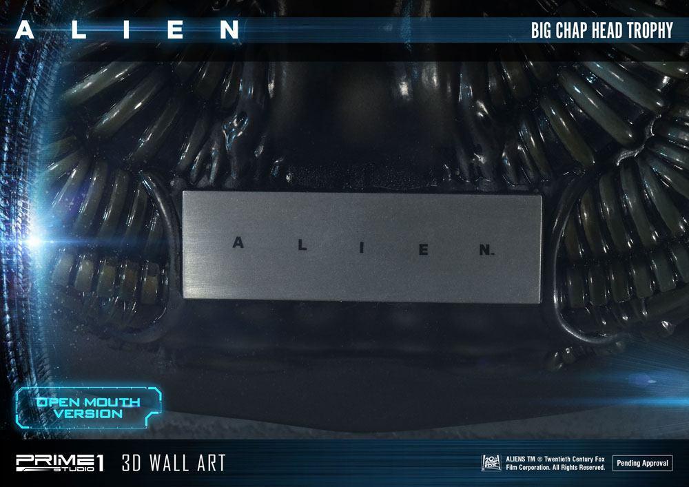 Alien plaque murale 3d warrior head trophy open mouth version 58 cm 11
