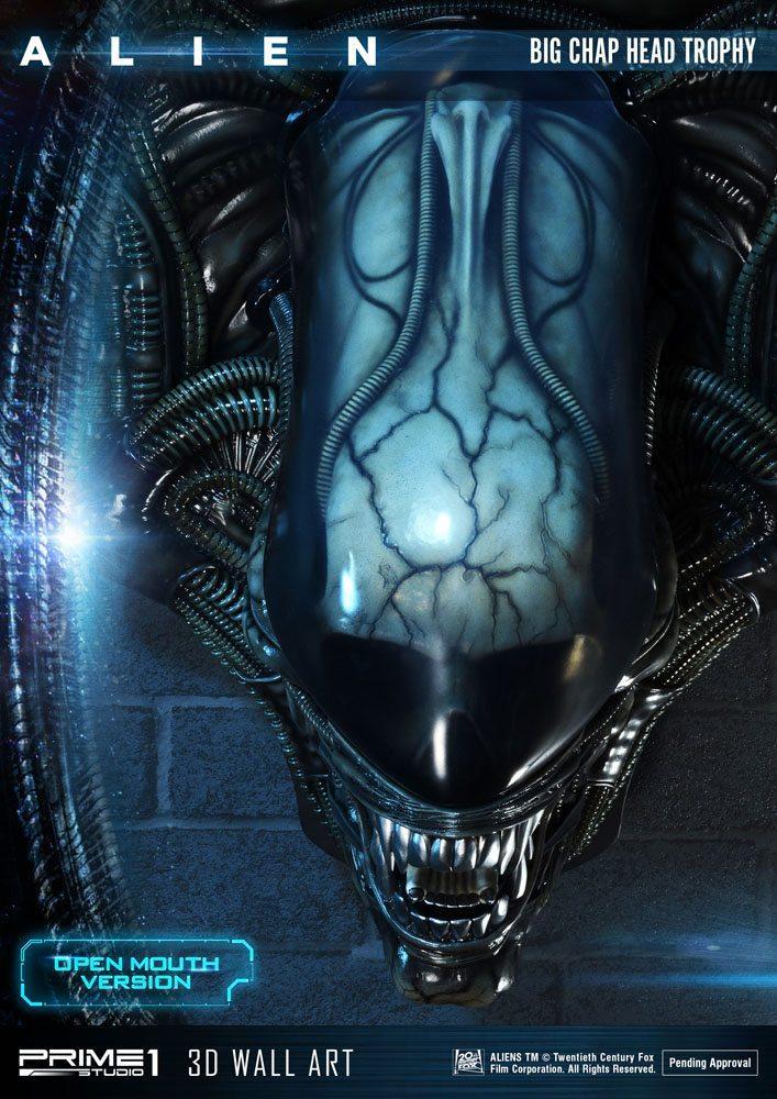 Alien plaque murale 3d warrior head trophy open mouth version 58 cm 5