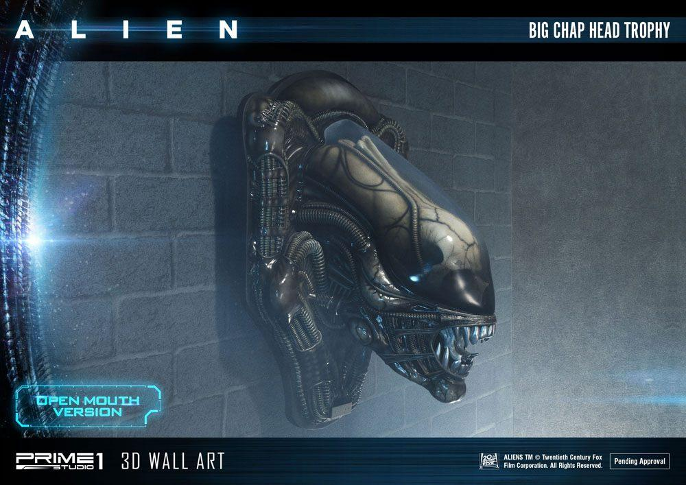 Alien plaque murale 3d warrior head trophy open mouth version 58 cm 9