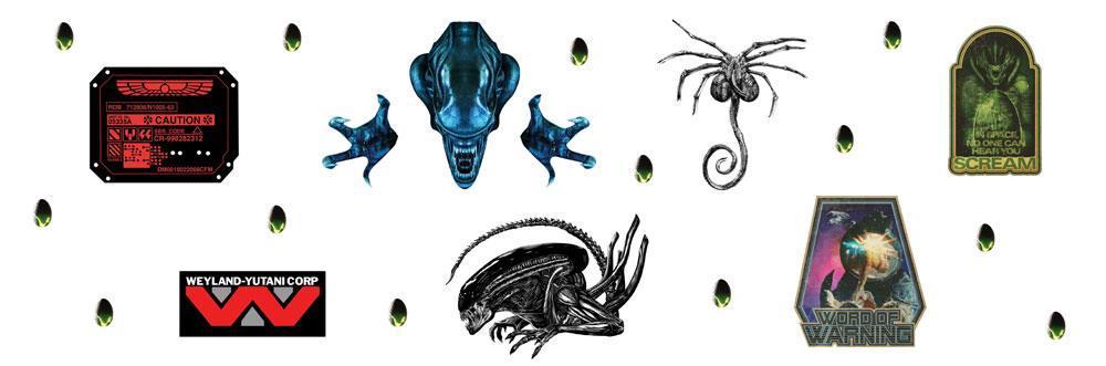 Alien stickers repositionnables 1