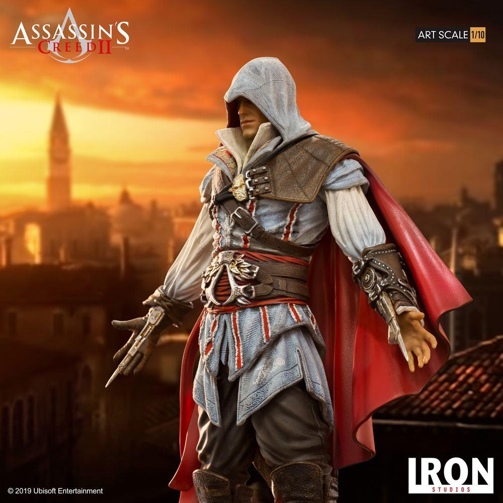 Assassin s creed ii statuette 110 art scale ezio auditore 21 cm 2