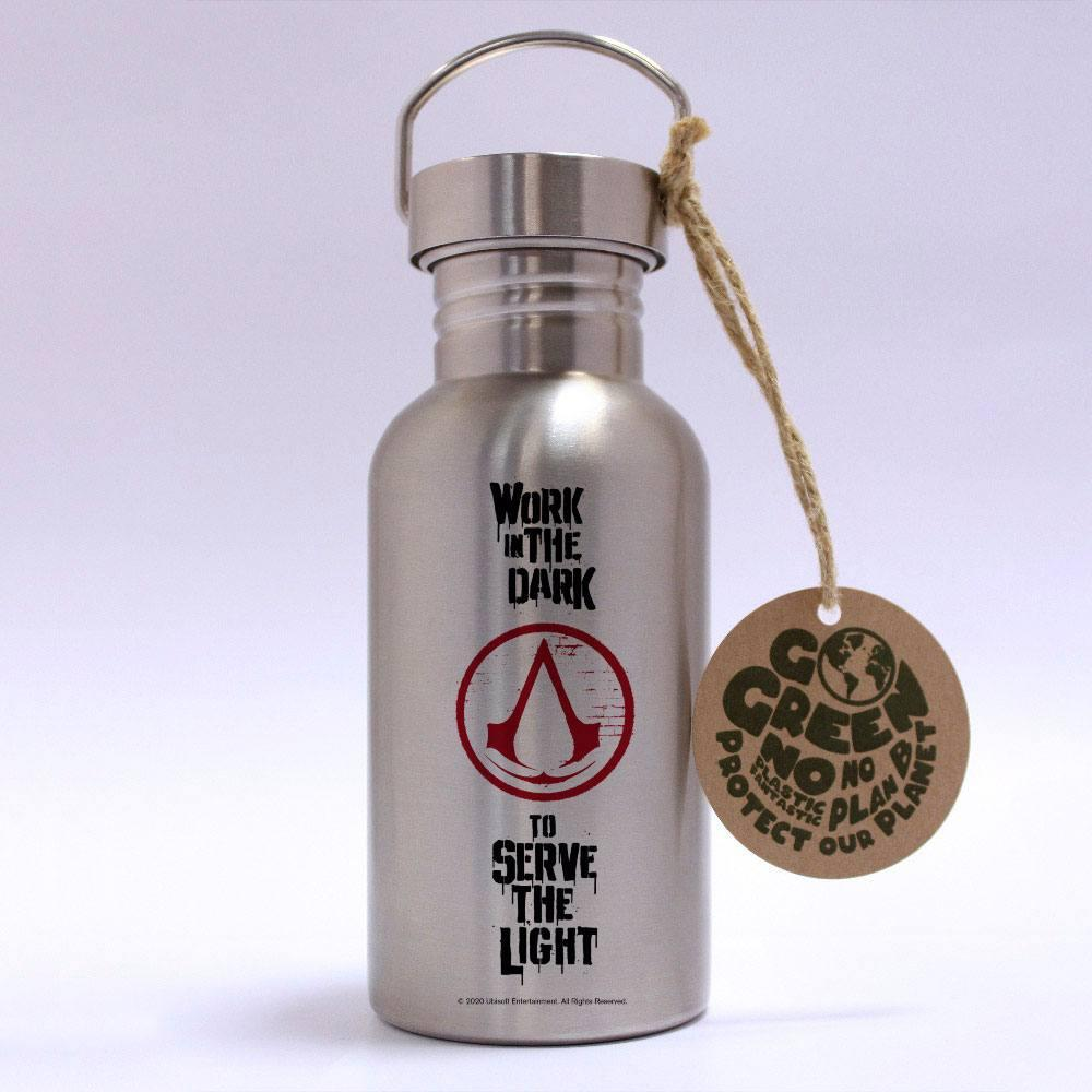 Assassins creed bouteille metal logo