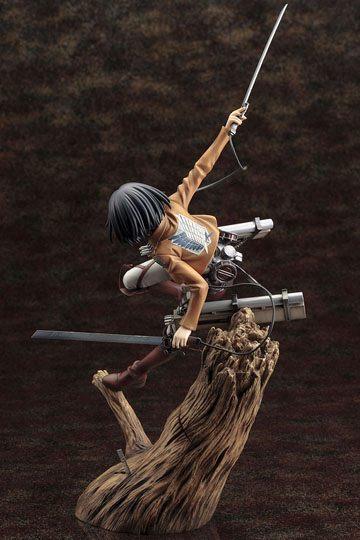 Attack on titan statuette pvc artfx j 18 mikasa ackerman renewal 3