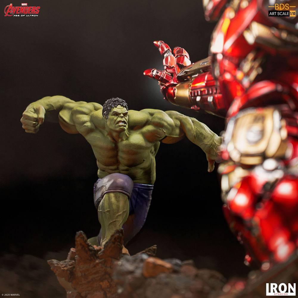 Avengers l ere d ultron statuette bds art scale hulk 26 cm iron studios 8