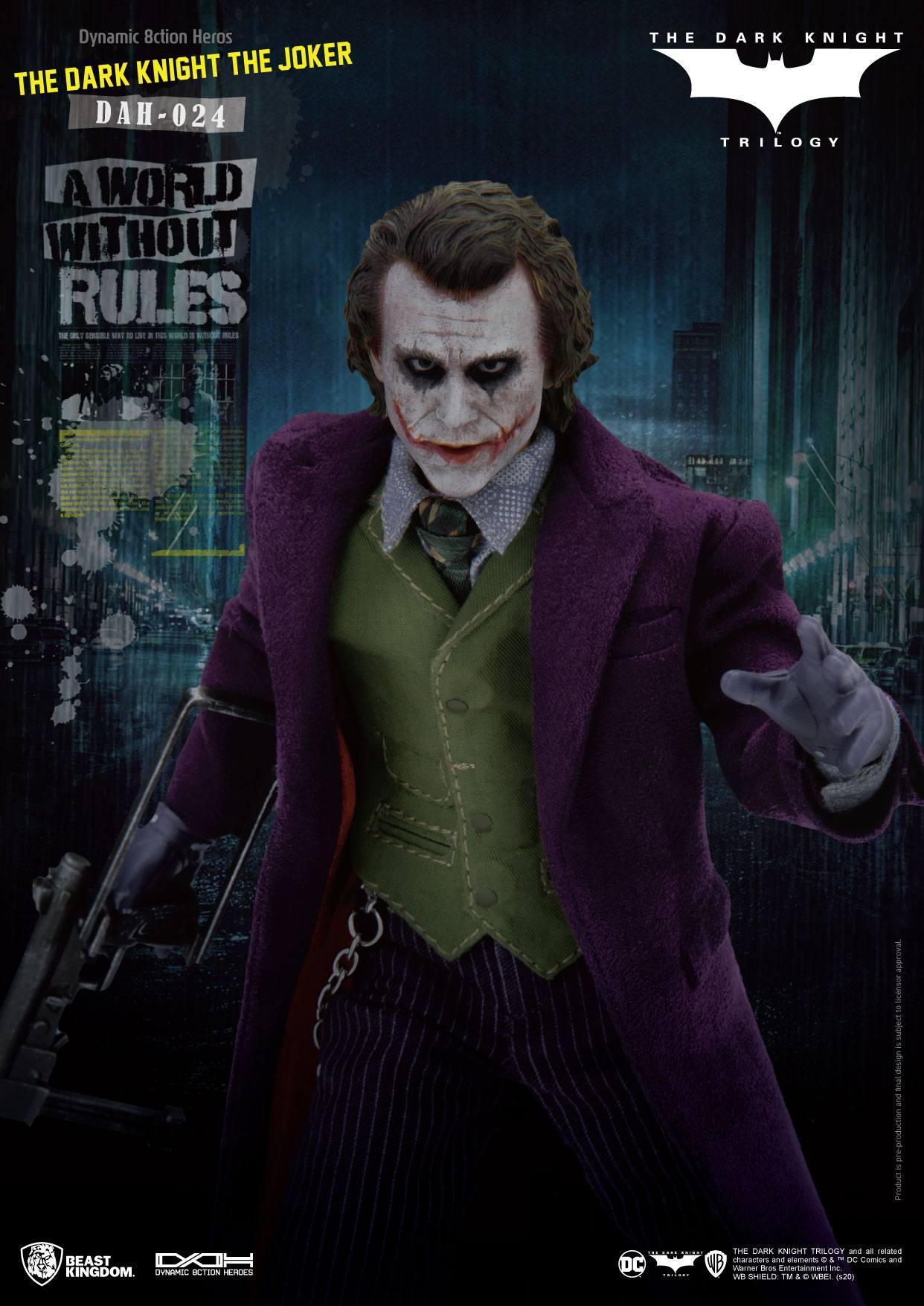 Batman the dark knight figurine dynamic action heroes the joker 6