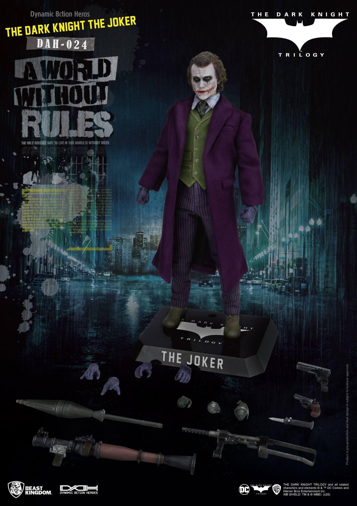 Batman the dark knight figurine dynamic action heroes the joker 7