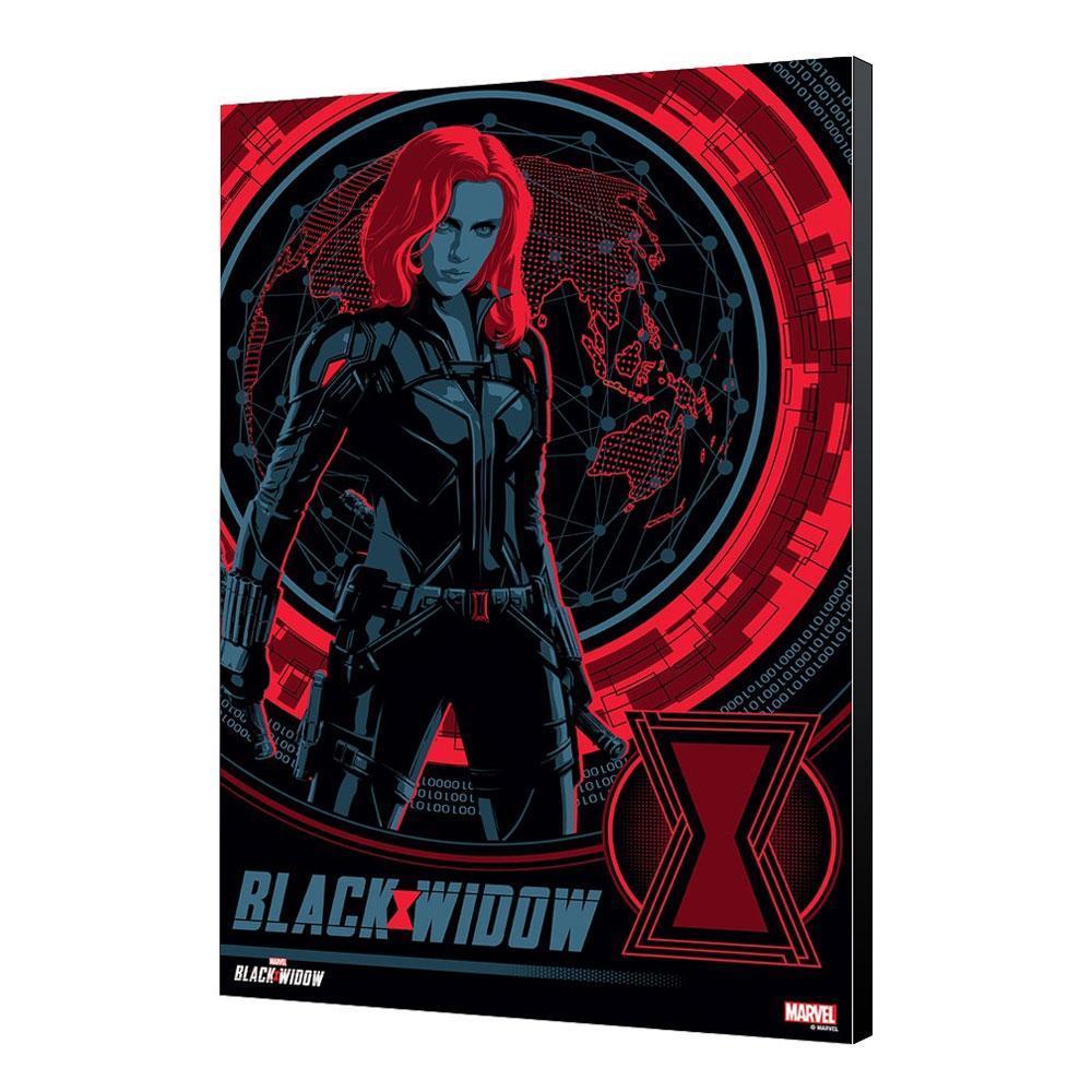 Black widow movie tableau en bois bw blackops 34 x 50 cm