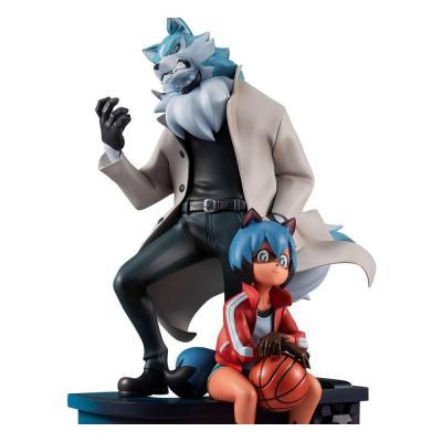 BNA: Brand New Animal statuette PVC Michiru Kagemori & Shirou Ogami 25 cm
