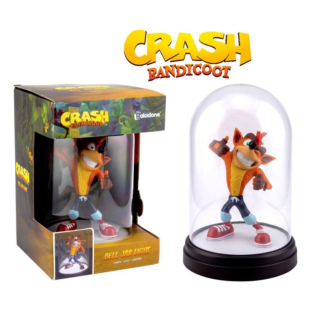 Crash bandicoot figurine led lampe sous cloche