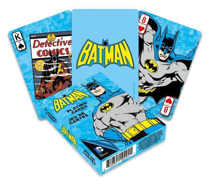 Dc comics jeu de cartes a jouer retro batman