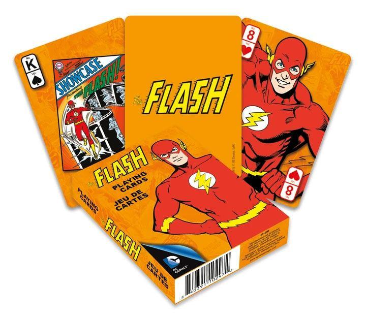 Dc comics jeu de cartes a jouer retro flash