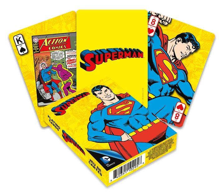Dc comics jeu de cartes a jouer retro superman