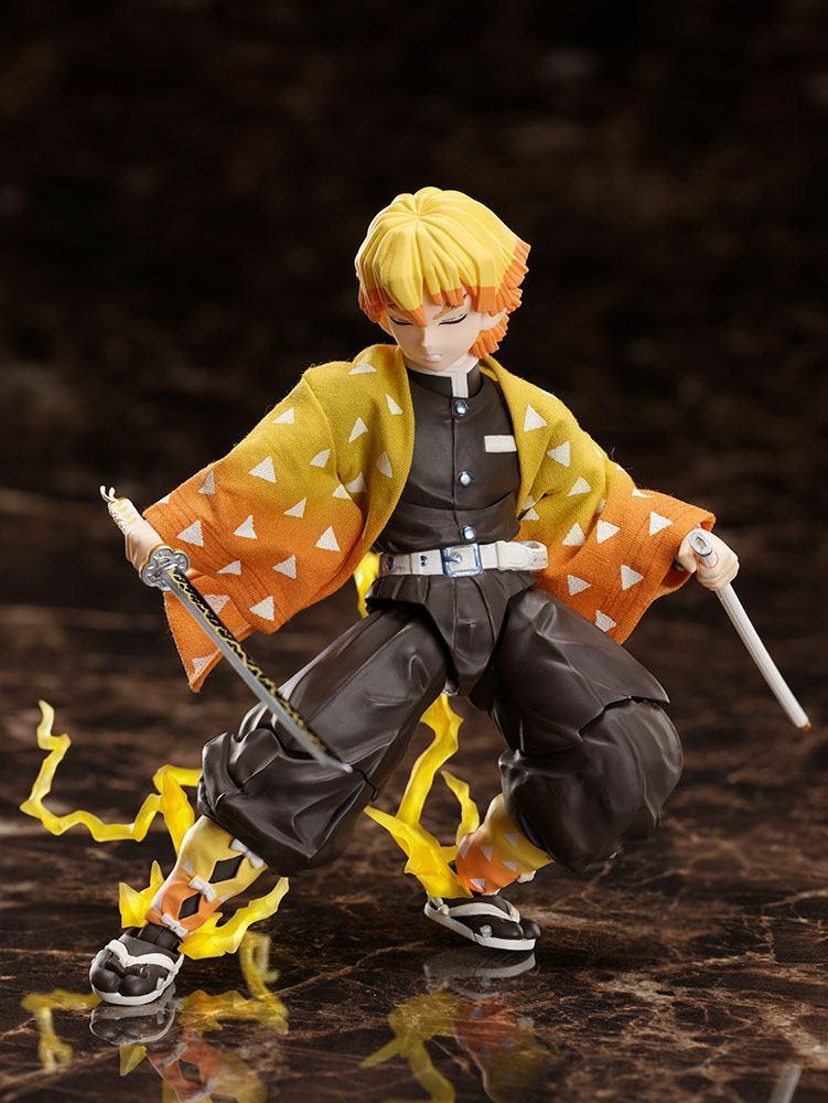 Demon slayer kimetsu no yaiba figurine zenitsu agatsuma 14 cm aniplex 4