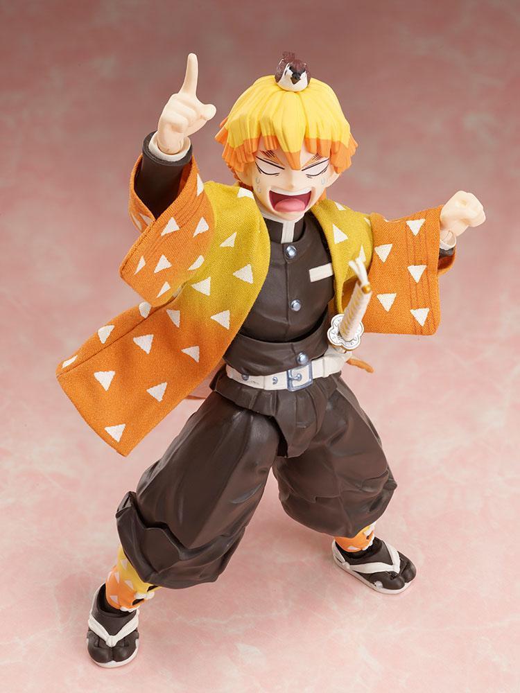 Demon slayer kimetsu no yaiba figurine zenitsu agatsuma 14 cm aniplex 5