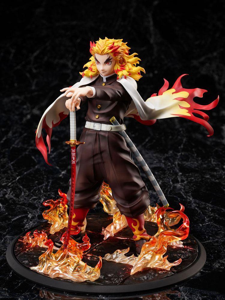 Demon slayer kimetsu no yaiba statuette 18 mugen train kyojuro rengoku 20 cm 2