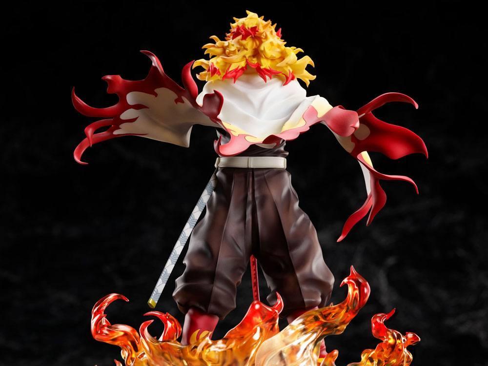 Demon slayer kimetsu no yaiba statuette 18 mugen train kyojuro rengoku 20 cm 3