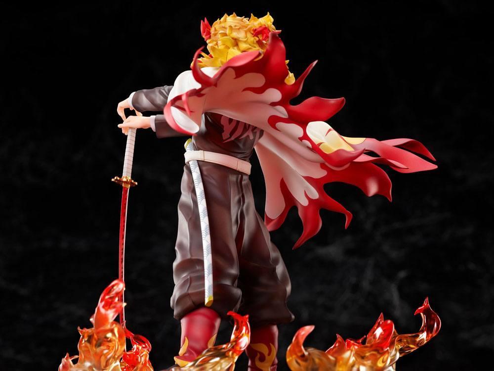 Demon slayer kimetsu no yaiba statuette 18 mugen train kyojuro rengoku 20 cm 4