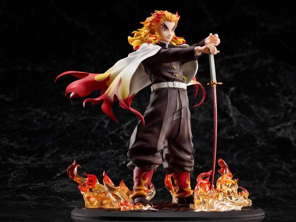 Demon slayer kimetsu no yaiba statuette 18 mugen train kyojuro rengoku 20 cm 5