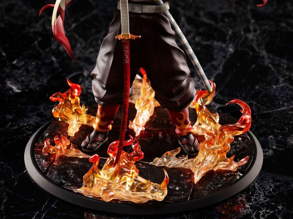 Demon slayer kimetsu no yaiba statuette 18 mugen train kyojuro rengoku 20 cm 6