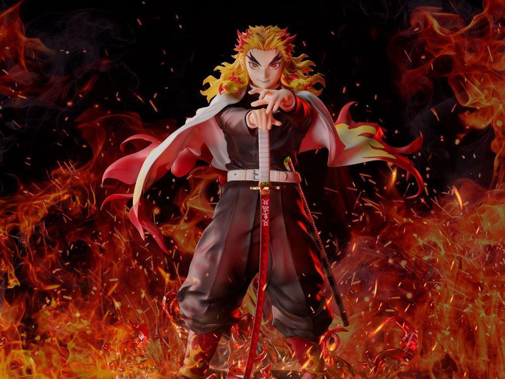 Demon slayer kimetsu no yaiba statuette 18 mugen train kyojuro rengoku 20 cm 7