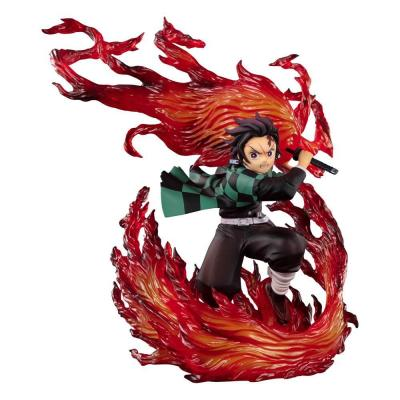 Demon slayer kimetsu no yaiba statuette pvc figuartszero kamado tanjiro hinokami kagura 21 cm suukoo toys