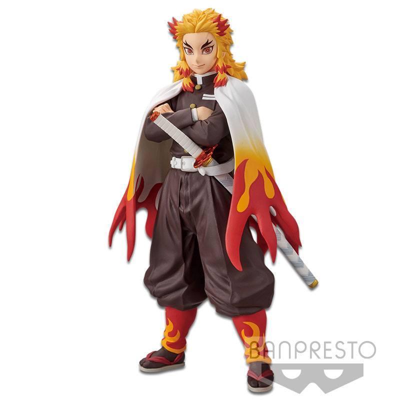 Demon slayer kimetsu no yaiba statuette pvc kyojuro rengoku 17 cm 1