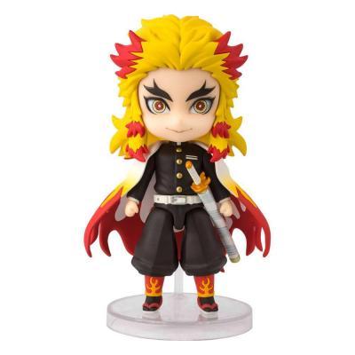 Demon slayer kimetsu no yaibafigurine figuarts mini rengoku kyojuro 9 cm suukoo toys 1