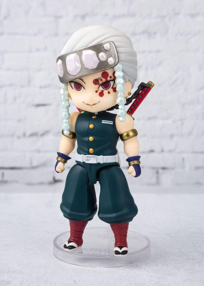 Demon slayer kimetsu no yaibafigurine figuarts mini uzui tengen 10 cm suukoo toys 2