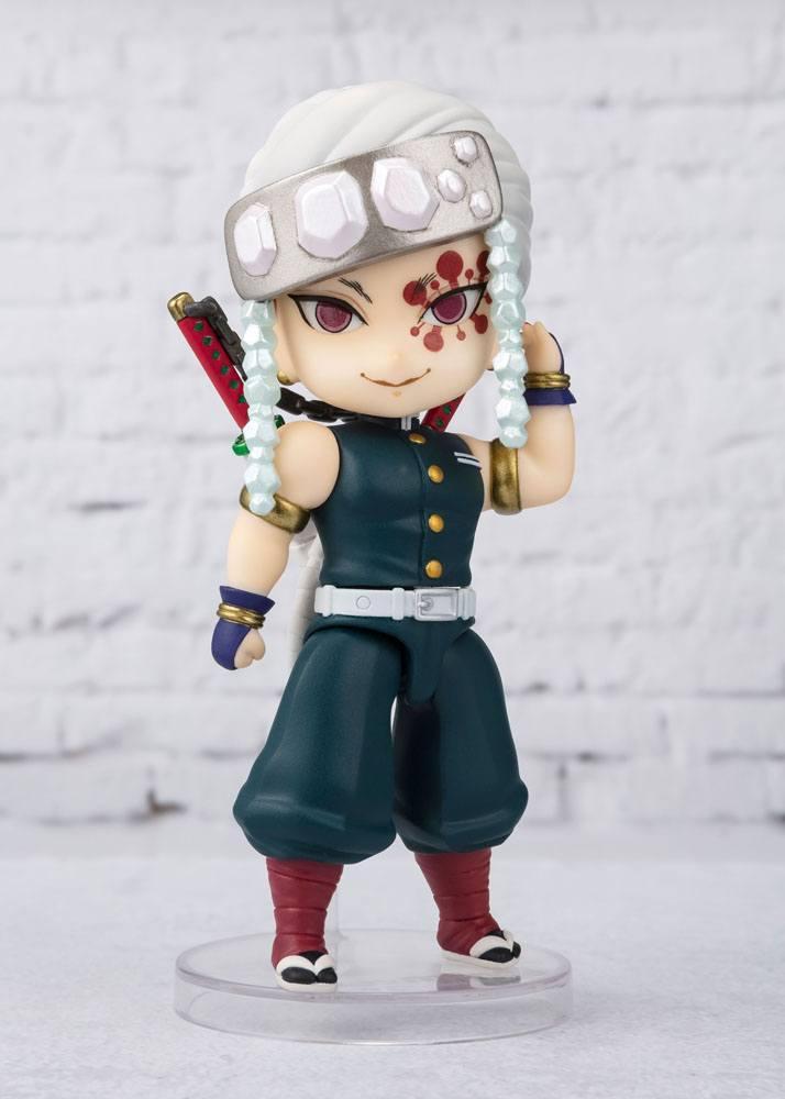 Demon slayer kimetsu no yaibafigurine figuarts mini uzui tengen 10 cm suukoo toys 3