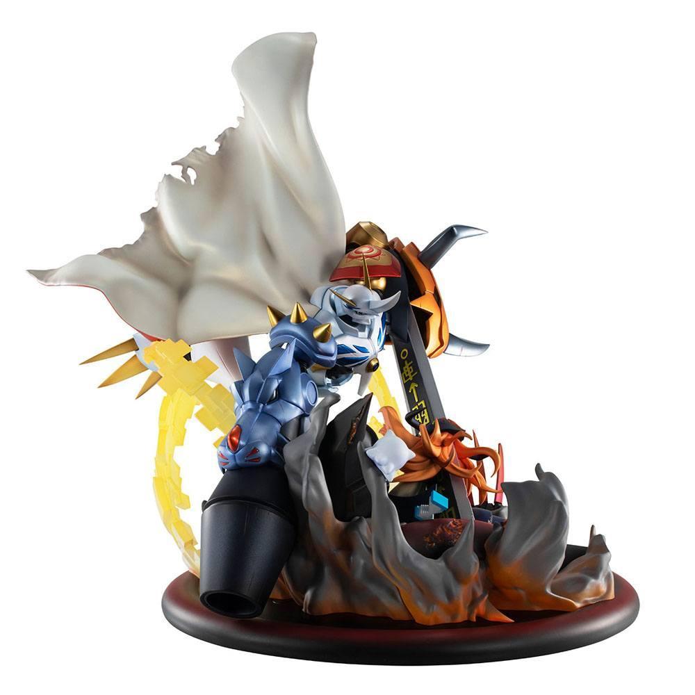 Digimon adventure bokura no uo gemu statuette pvc vs series omegamon vs diabolomon 34 cm 2