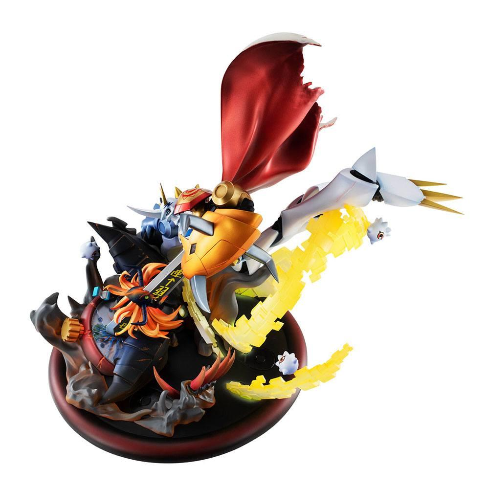 Digimon adventure bokura no uo gemu statuette pvc vs series omegamon vs diabolomon 34 cm 3