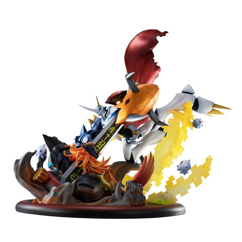 Digimon adventure bokura no uo gemu statuette pvc vs series omegamon vs diabolomon 34 cm 4