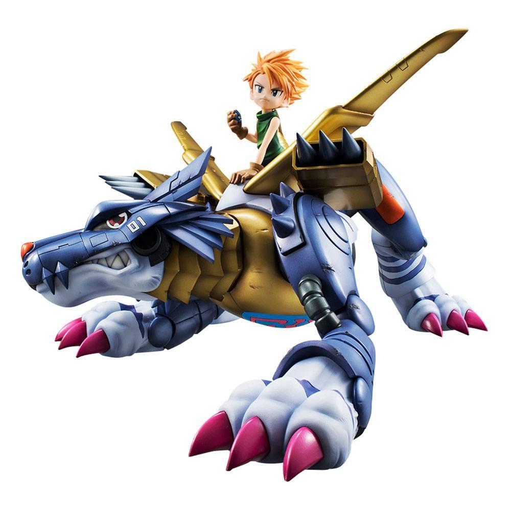 Digimon adventure g e m precious series statuette pvc metal garurumon ishida yamato 30 cm 1