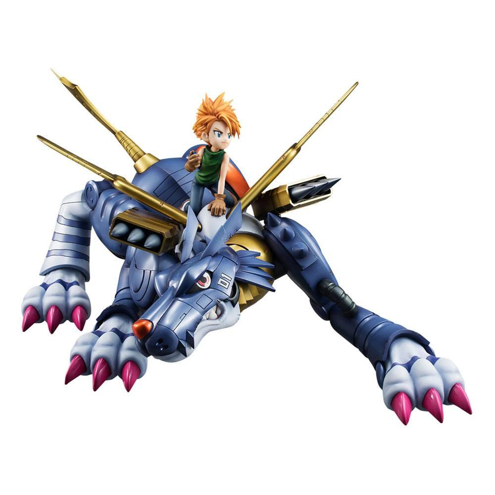Digimon adventure g e m precious series statuette pvc metal garurumon ishida yamato 30 cm 2