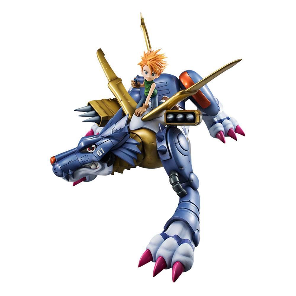 Digimon adventure g e m precious series statuette pvc metal garurumon ishida yamato 30 cm 3