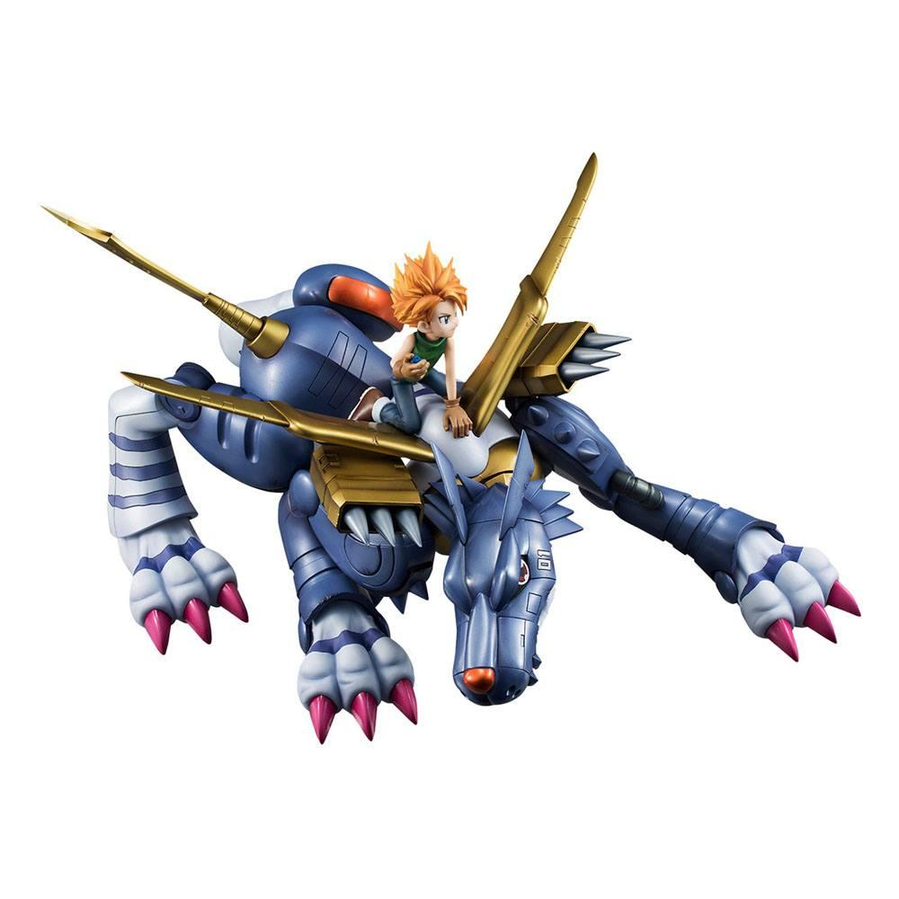 Digimon adventure g e m precious series statuette pvc metal garurumon ishida yamato 30 cm 4