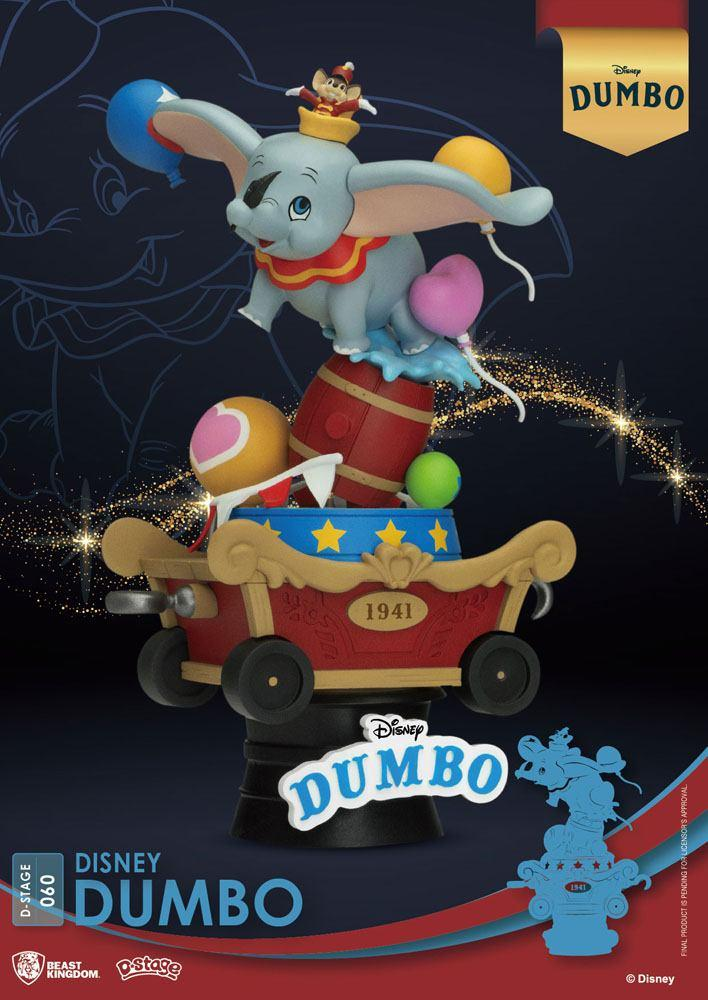 Disney classic animation series diorama pvc d stage dumbo 15 cm 1