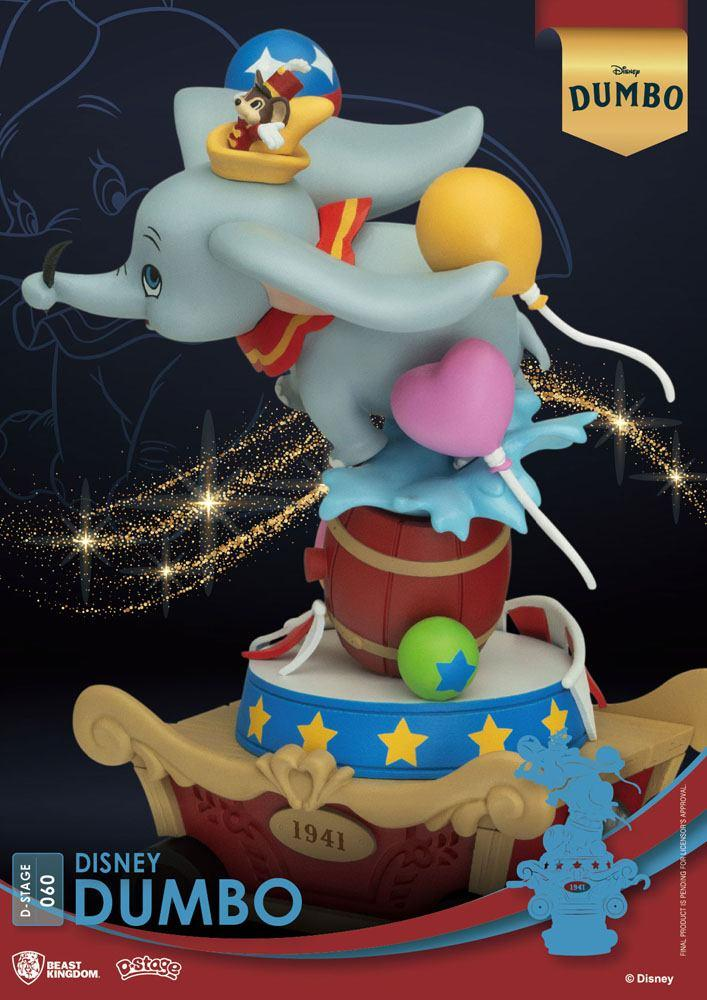 Disney classic animation series diorama pvc d stage dumbo 15 cm 2