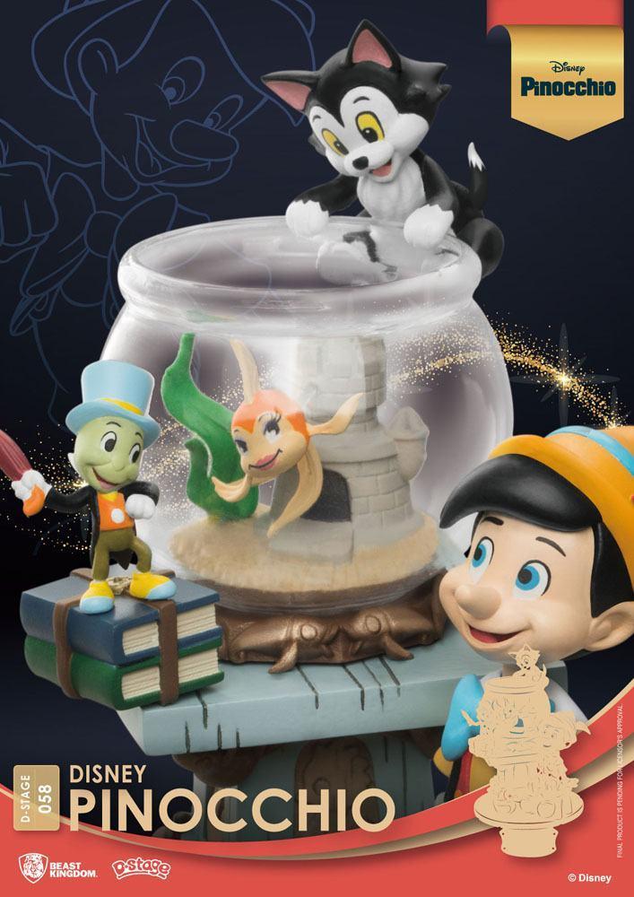 Disney classic animation series diorama pvc d stage pinocchio 15 cm 3
