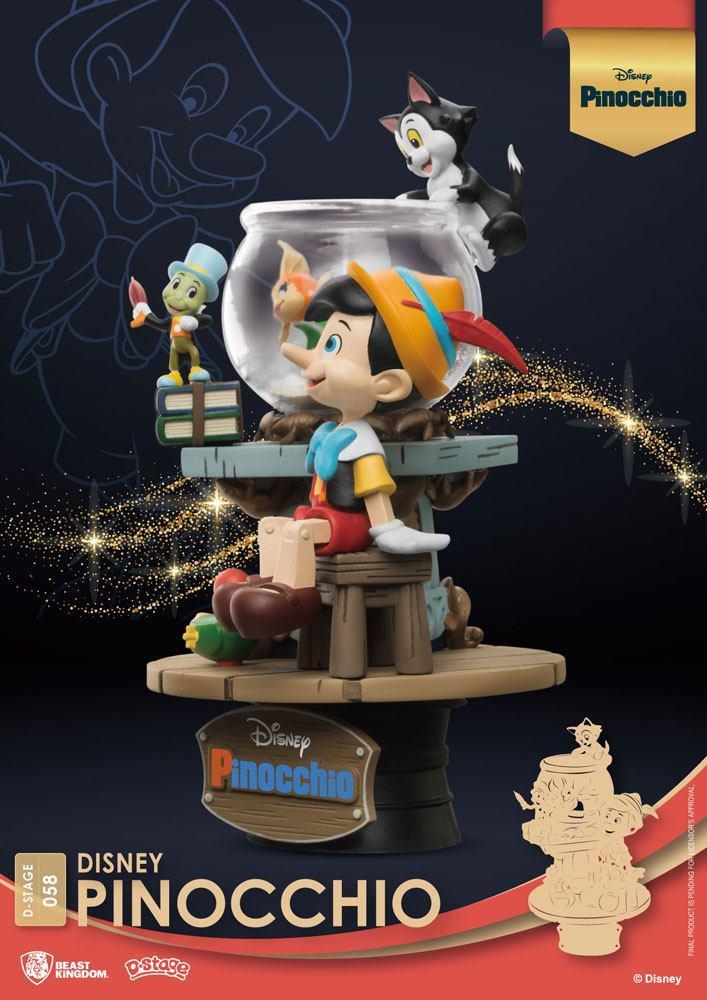 Disney classic animation series diorama pvc d stage pinocchio 15 cm 4