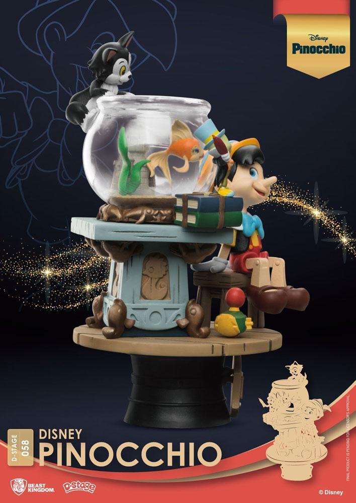 Disney classic animation series diorama pvc d stage pinocchio 15 cm 5