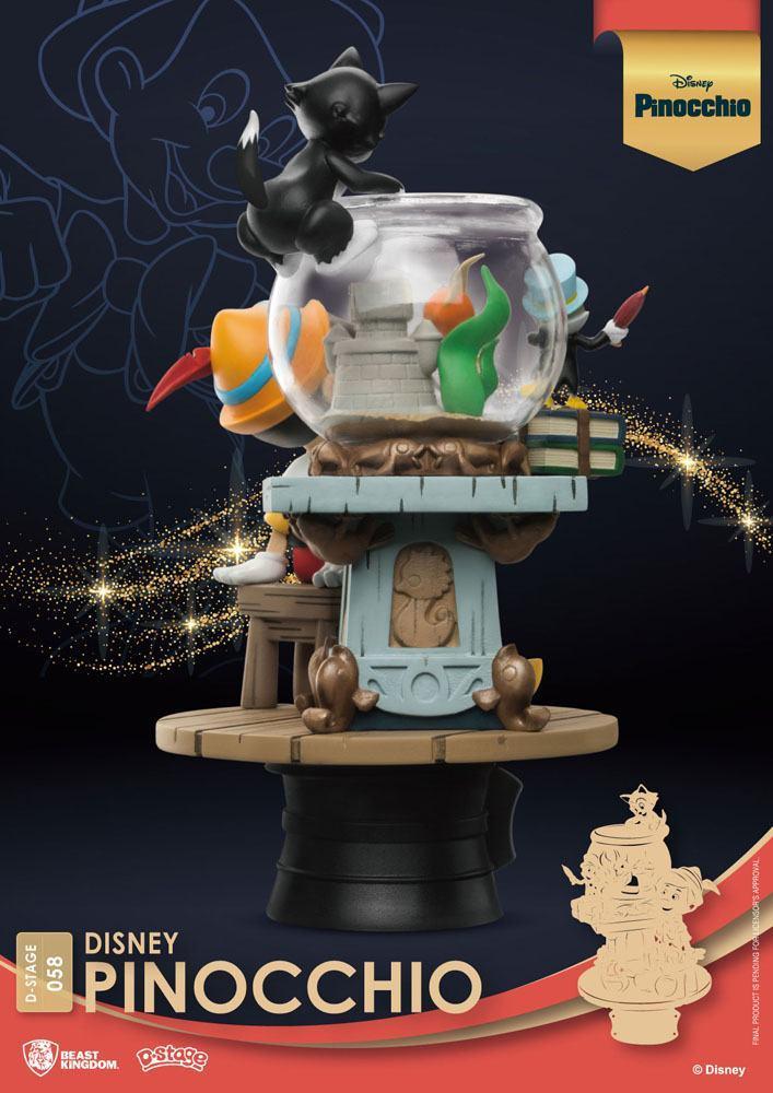 Disney classic animation series diorama pvc d stage pinocchio 15 cm 6