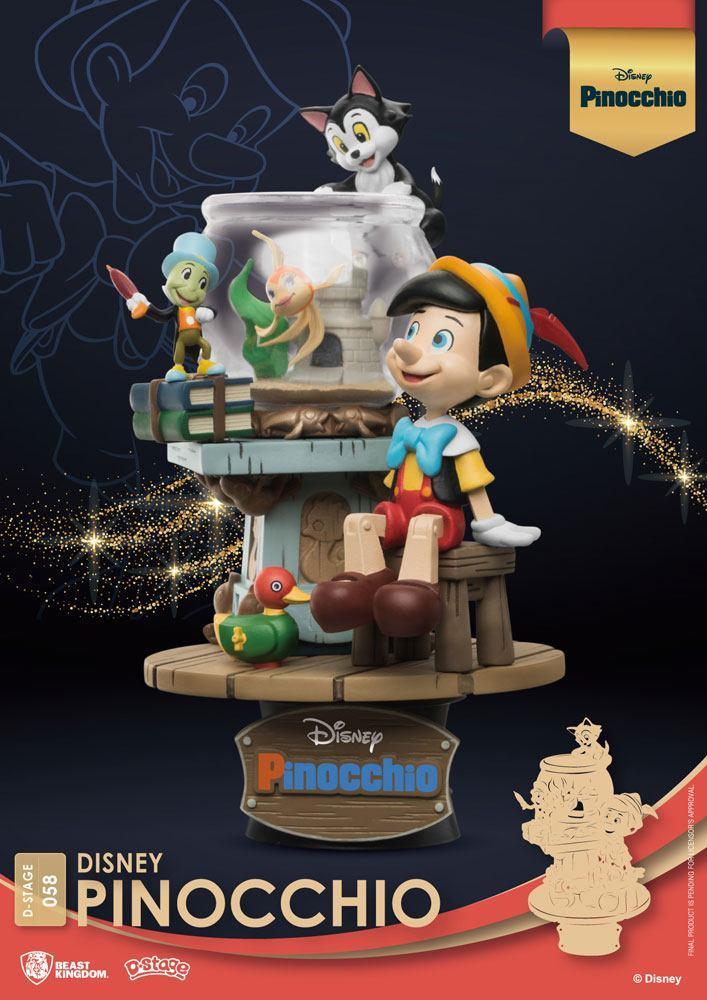 Disney classic animation series diorama pvc d stage pinocchio 15 cm 7