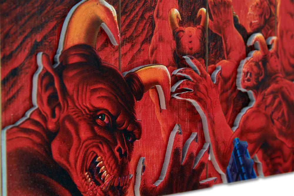 Doom print art wood tableau en bois suukoo toys 3