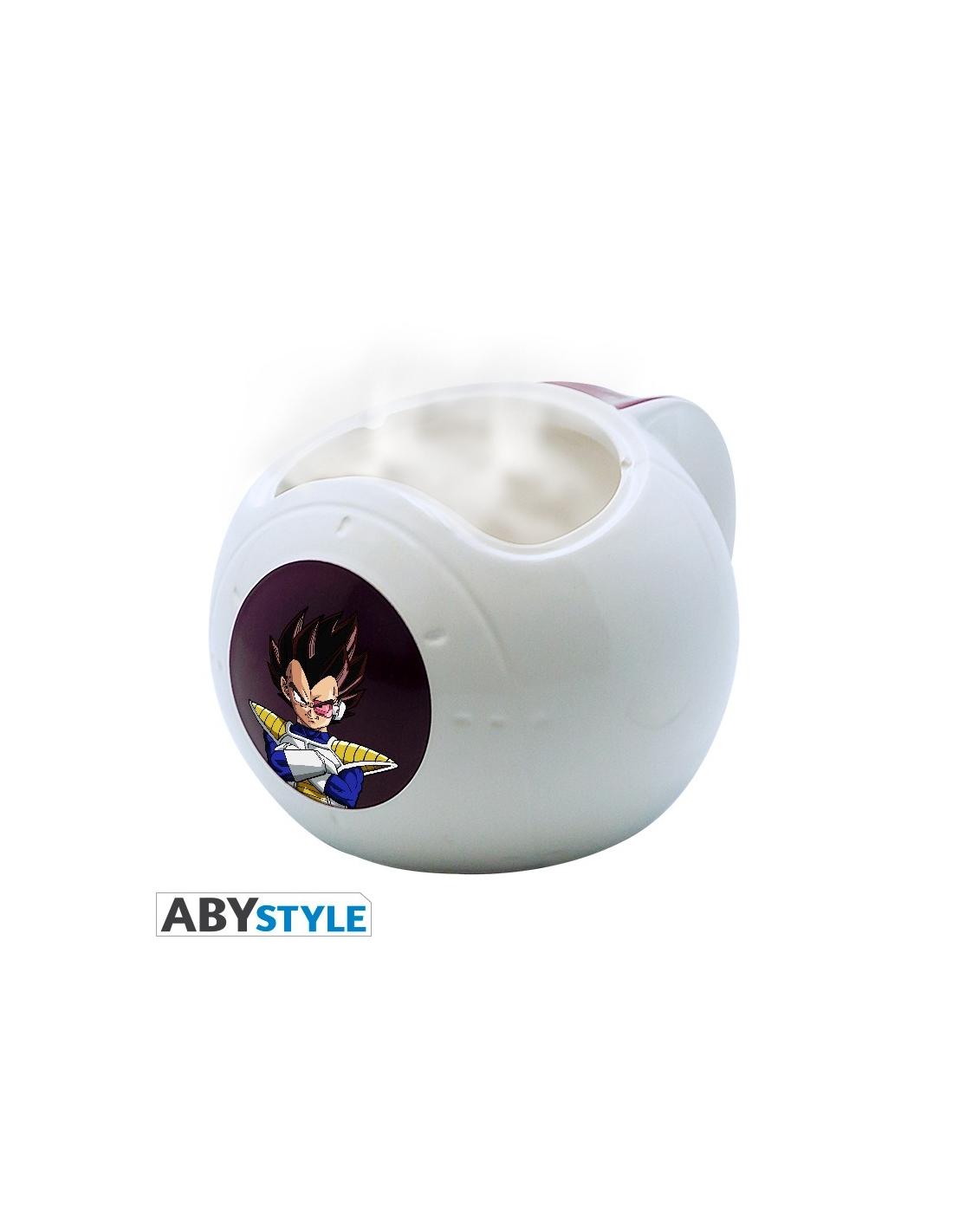Dragon ball mug 3d heat change vaisseau vegeta