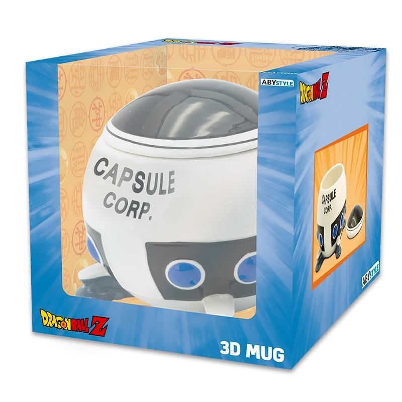 Dragon ball mug 3d vaisseau capsule corp x2 2