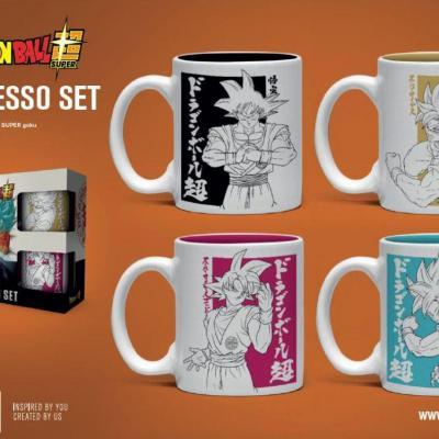 Dragon ball super pack 4 tasses espresso goku gb eyes
