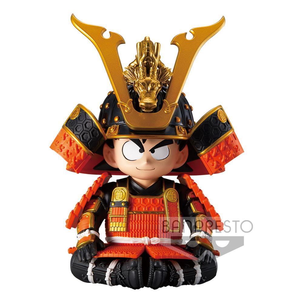 Dragonball z statuette kid goku japanese armor helmet ver a 12 cm 1