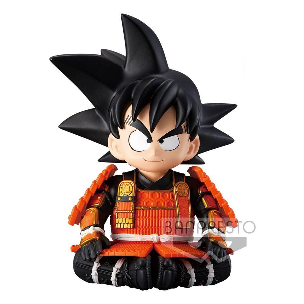Dragonball z statuette kid goku japanese armor helmet ver a 12 cm 3